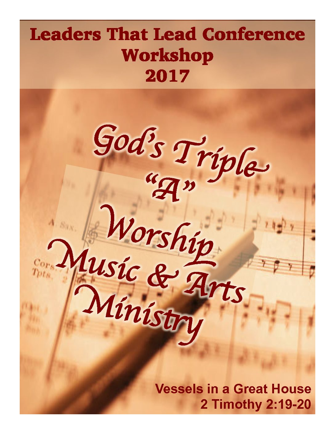 2017 LTL Worship Music & Arts Workshop