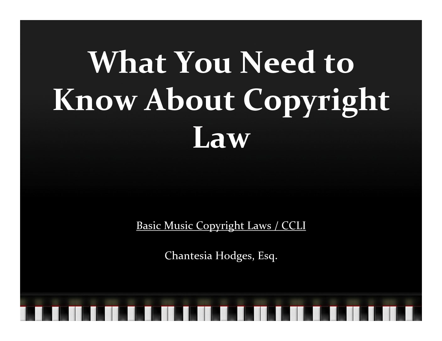 What You Need to Know About Copyright Law